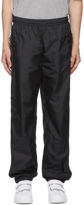 Acne Studios Black Face Motif Stripe Lounge Pants