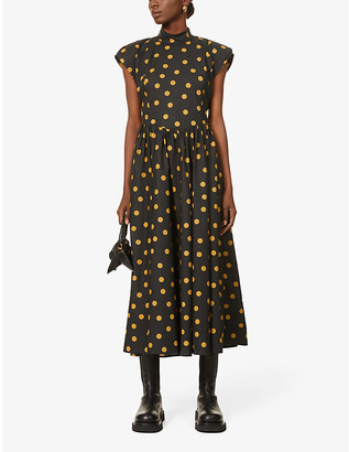 Gestuz Cassia polka dot organic-cotton midi dress