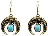 Mexzotic MexZotic Women's Earrings Silver - Teal Goldtone Crescent Drop Earrings
