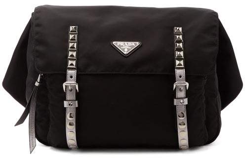 Prada New Vela Nylon Belt Bag - Womens - Black Silver
