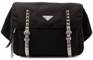 Prada New Vela Nylon Belt Bag - Womens - Black Silver