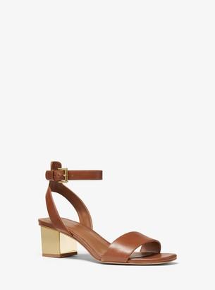 MICHAEL Michael Kors Petra Leather Sandal