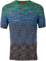 Missoni colour contrast T-shirt - men - Cotton - 50