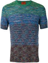 Missoni colour contrast T-shirt - men - Cotton - 52