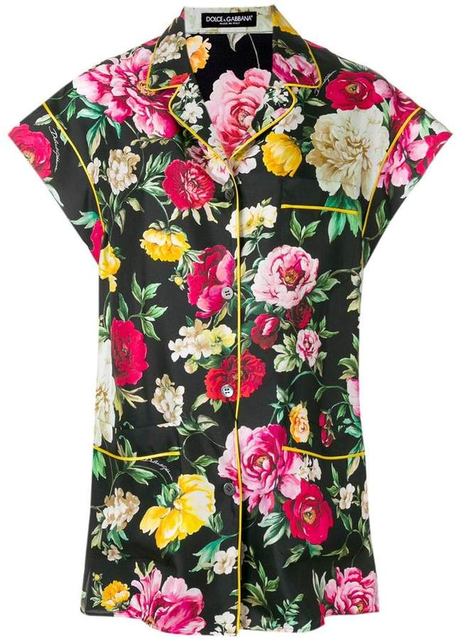 Dolce & Gabbana floral printed shirt