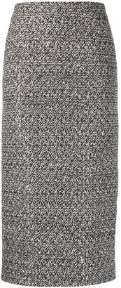Alessandra Rich Tweed Midi Skirt