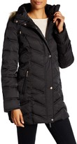 Kenneth Cole New York Faux Fur Trim Quilted Jacket