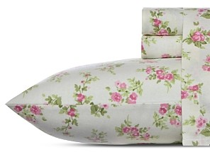Laura Ashley Audrey Cotton Flannel Sheet Set, Full