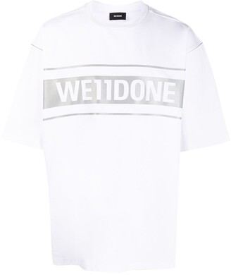 we11done oversized logo print T-shirt