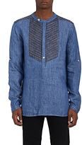 Pierre Balmain MEN'S COTTON DENIM TUNIC SHIRT