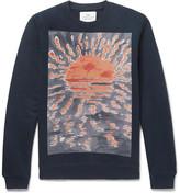 Folk + Goss Brothers Setting Sun Loopback Cotton-jersey Sweatshirt - Navy