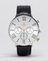 Asos Mixed Metal Watch With Roman Numerals
