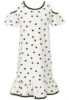 Kate Spade Little Girls 2-6 Dotted Cold-Shoulder Dress