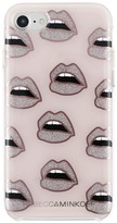 Rebecca Minkoff Glitter Lips Case For Iphone 7