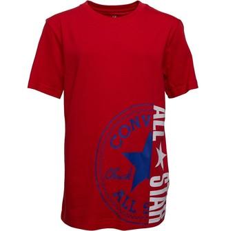 Converse Junior Boys Chuck Patch All Star Split T-Shirt University Red