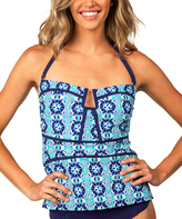 Leilani Navy Antigua Bandini Top