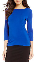 Investments 3/4 Sleeve Essential Boatneck Top
