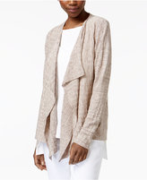 Eileen Fisher Linen Draped Open-Front Cardigan