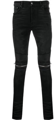 Amiri ribbed skinny fit biker jeans