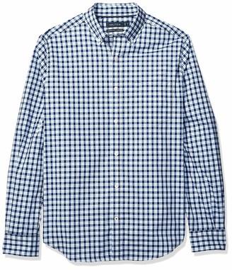 Nautica Men's Wrinkle Resistant Super Lux Plaid Stretch Button Down Shirt