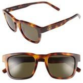 Salvatore Ferragamo Men's 51Mm Square Sunglasses - Tortoise