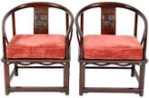 One Kings Lane Vintage 1900s Chinese Rosewood Armchairs