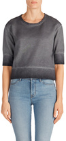 J Brand Sanora Crop Sweatshirt in Storm Grey