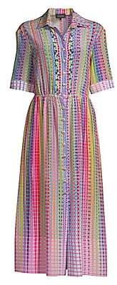 Saloni Women's Ash Silk Shirtdress - Size 0