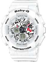 G-Shock Women's Analog-Digital Baby-G Limited Edition Hello Kitty White Resin Strap Watch 43mm BA120KT-7A