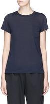 Sacai Stripe pleated back contrast T-shirt
