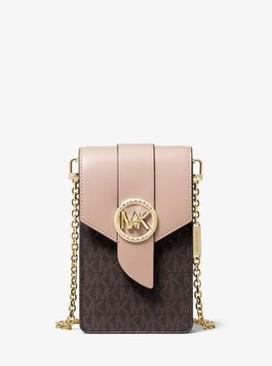 MICHAEL Michael Kors Small Logo and Leather Smartphone Crossbody Bag
