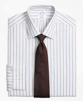 Brooks Brothers Non-Iron Madison Fit Hairline Framed Stripe Dress Shirt