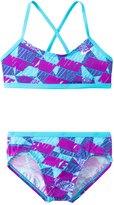 Nike Swimwear Girls' Graphic Crossback Bikini Set (714) - 8152349