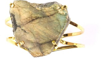 Tiana Jewel Laurie Labradorite Gold Cuff Bracelet