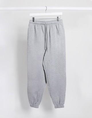Topshop jogger in grey marl