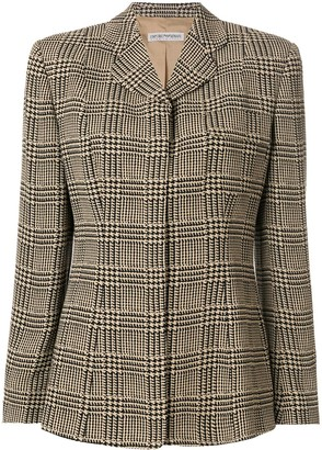Giorgio Armani Pre-Owned Hounstooth Check Slim Blazer