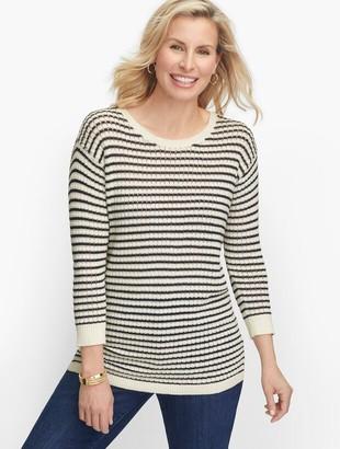 Talbots Mixed Yarn Sweater - Jungle Stripe