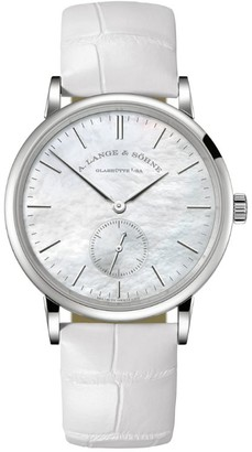 A. Lange & Söhne White Gold and Mother-of-Pearl Saxonia Watch 35mm
