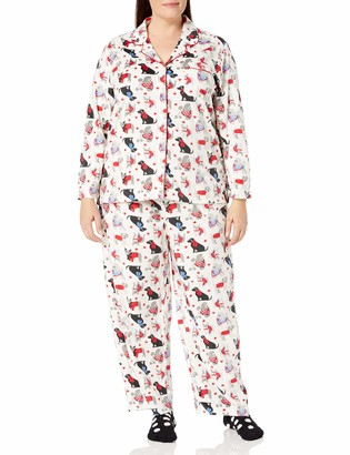 Karen Neuburger Women's Long Sleeve Minky Fleece Pajama Set PJ with Socks