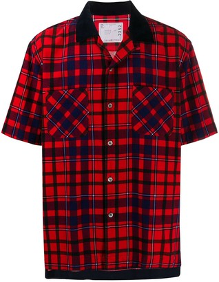 Sacai Checked Short-Sleeved Shirt
