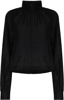 REMAIN Maxim semi-sheer blouse