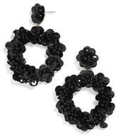 BaubleBar Sequin Floral Hoop Earring
