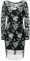 Diane von Furstenberg floral lace overlay dress
