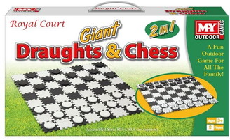 MY 2 In 1 Giant Draughts and Chess Set