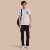 Burberry Weather Appliqué Cotton Piqué Polo Shirt