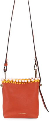 Strathberry Nano Lana Pom Calfskin Leather Bucket Bag