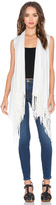Central Park West Auckland Sleeveless Fringe Vest