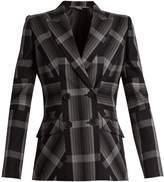 Alexander McQueen Multi-stripe silk-blend jacket