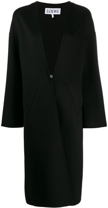 Loewe Collarless Long Coat