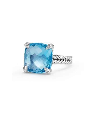 David Yurman 14mm Châtelaine Hampton Blue Topaz Ring